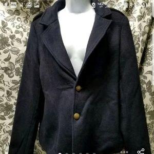 Wool Navy Blue Pea Coat